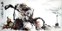 Chinese Da Mo / Bodhidharma Painting