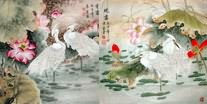 Chinese Egret Paintings