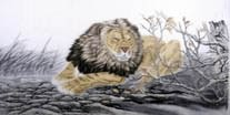 Chinese Lion Paintings