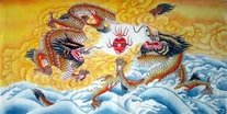 Chinese Dragon Art Paintings