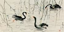 Chinese Swan Paintings