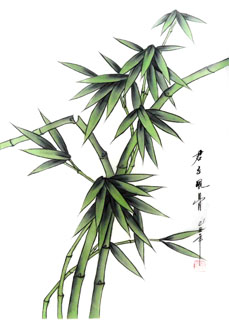Chinese Bamboo Painting,30cm x 40cm,2336136-x
