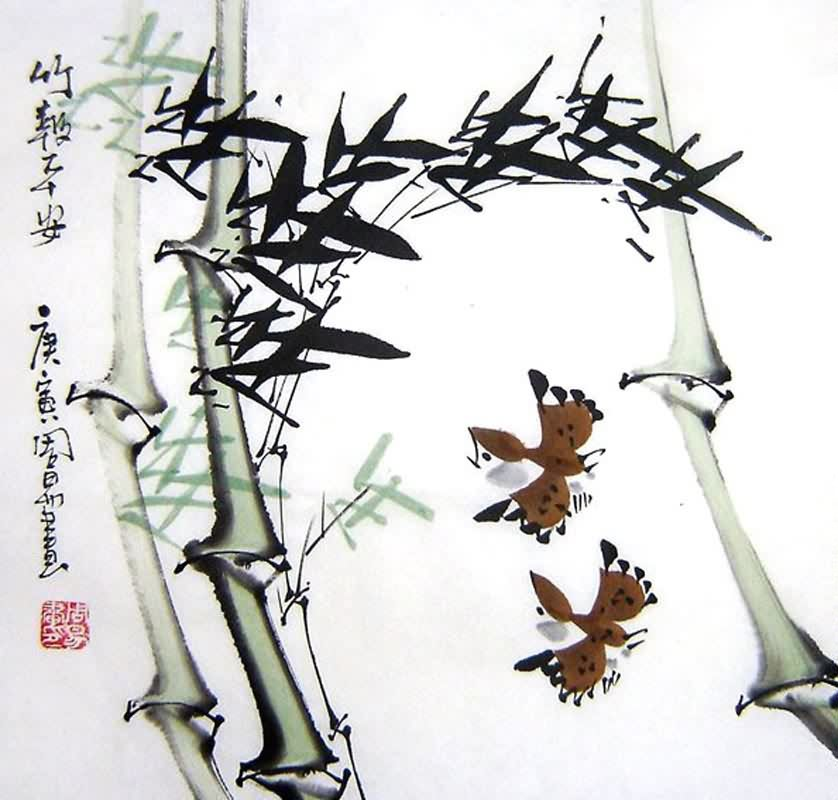 Chinese Bamboo Painting bamboo 2396030, 33cm x 33cm(13〃 x 13〃)