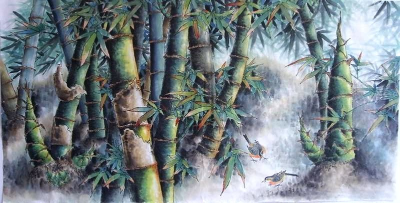 Chinese Bamboo Painting 2515002, 66cm x 136cm(26〃 x 53〃)