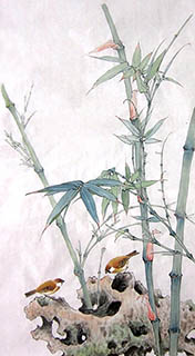 Chinese Bamboo Painting,50cm x 100cm,2574047-x