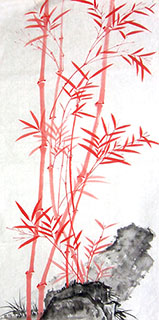 Chinese Bamboo Painting,50cm x 100cm,2574048-x