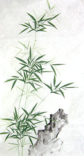 Chinese Bamboo Painting,50cm x 100cm,2574049-x