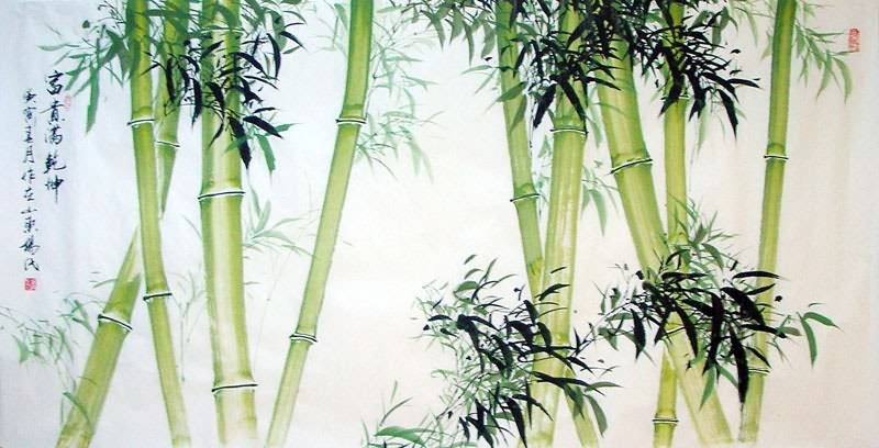 Chinese Bamboo Painting bamboo 2695025, 88cm x 180cm(35〃 x ...