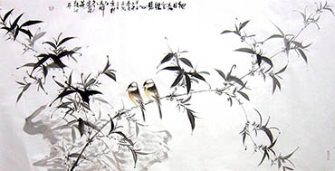 Chinese Bamboo Painting,66cm x 136cm,dyc21099054-x