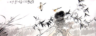 Chinese Bamboo Painting,70cm x 180cm,dyc21099055-x