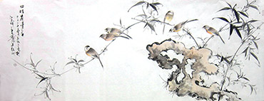 Chinese Bamboo Painting,70cm x 180cm,dyc21099056-x