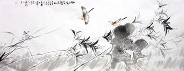Chinese Bamboo Painting,70cm x 180cm,dyc21099057-x