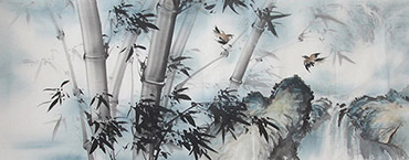 Chinese Bamboo Painting,70cm x 180cm,wh21079002-x