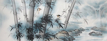 Chinese Bamboo Painting,70cm x 180cm,wh21079003-x
