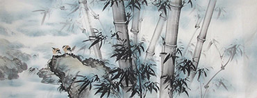 Chinese Bamboo Painting,70cm x 180cm,wh21079005-x