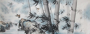 Chinese Bamboo Painting,70cm x 180cm,wh21079007-x