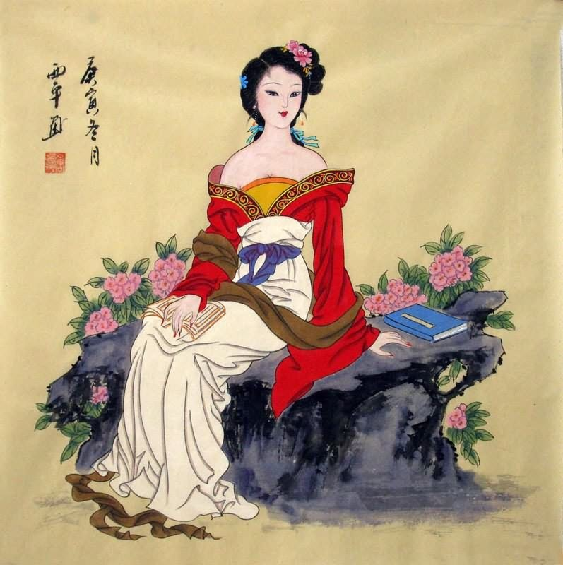 Chinese Beautiful Ladies Painting Traditional Chinese ...