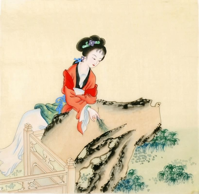 Ancient chinese paintings of women for Chinese mural art