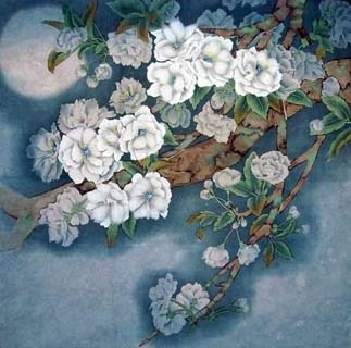 Chinese Cherry Blossom Painting,50cm x 50cm,2342001-x