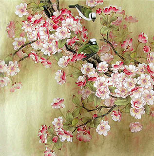 Chinese Cherry Blossom Painting,68cm x 68cm,2387084-x