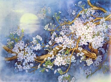 Chinese Cherry Blossom Painting,75cm x 100cm,2400001-x