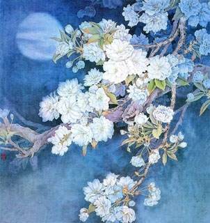 Chinese Cherry Blossom Painting,66cm x 66cm,2400003-x