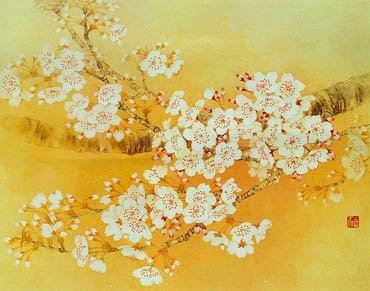 Chinese Cherry Blossom Painting,60cm x 80cm,2401002-x