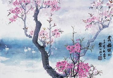 Chinese Cherry Blossom Painting,69cm x 46cm,2402001-x