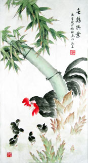 Chinese Chicken Painting,60cm x 90cm,4473003-x