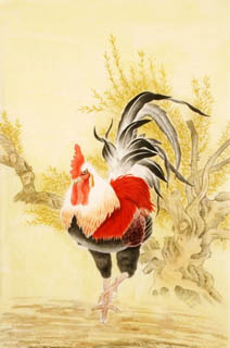 Chinese Chicken Painting,69cm x 46cm,4602006-x