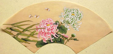 Chinese Chrysanthemum Painting,19cm x 27cm,2421004-x