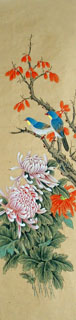 Chinese Chrysanthemum Painting,33cm x 130cm,2429004-x