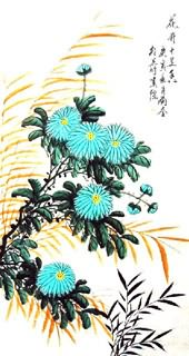 Chinese Chrysanthemum Painting,50cm x 100cm,2431001-x
