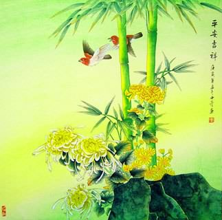 Chinese Chrysanthemum Painting,69cm x 69cm,2434001-x