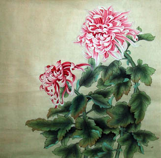 Chinese Chrysanthemum Painting,66cm x 66cm,2611001-x