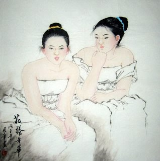 Chinese Contemporary Figures Painting,69cm x 69cm,3515001-x