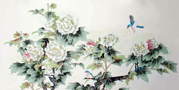 Chinese Cotton Rose Painting,80cm x 155cm,2336059-x