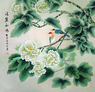 Chinese Cotton Rose Painting,69cm x 69cm,2702028-x