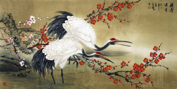 Chinese Crane Painting 2581008 66cm X 130cm 26〃 X 51〃
