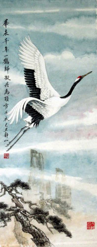 Crane,30cm x 70cm(12〃 x 27〃),4700001-z