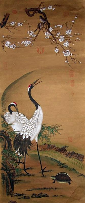 Chinese Crane Painting 4734092, 40cm x 98cm(16〃 x 38〃) - photo#14