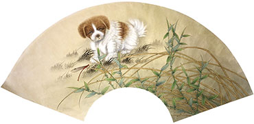 Chinese Dog Painting,60cm x 21cm,4011003-x