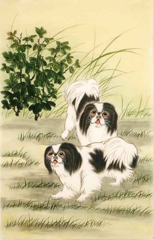 chinese dog painting 0 4340010 43cm x 65cm17 x 26