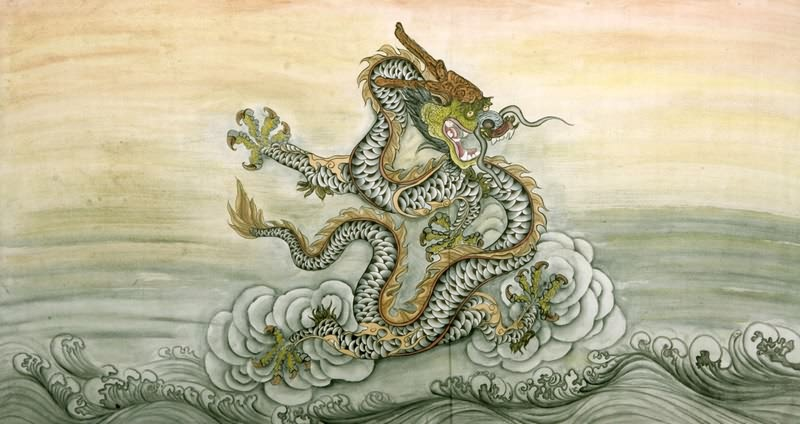 paintings art Chinese dragon
