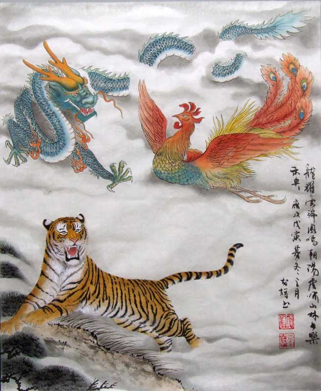 Chinese Dragon Painting 4732028, 40cm x 50cm(16〃 x 19〃)
