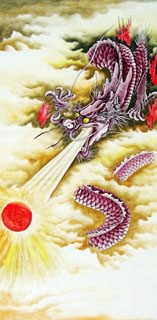 Chinese Dragon Painting,66cm x 130cm,4738037-x