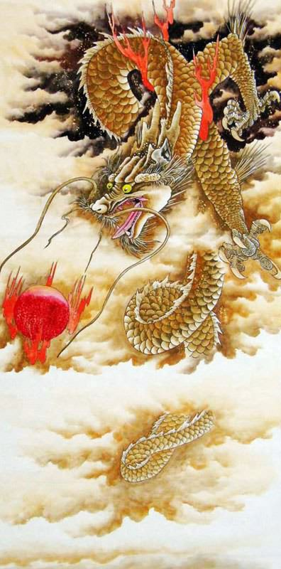 Chinese dragon painting dragon 4738040 66cm x 130cm 26 x for Japanese dragon painting