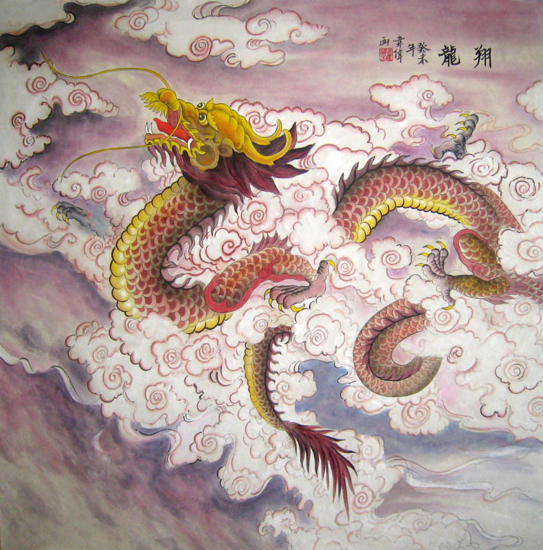 Chinese Dragon Painting 4739003, 66cm x 66cm(26〃 x 26〃)