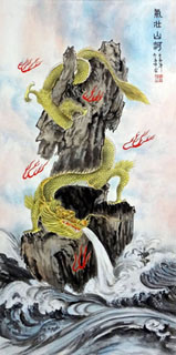 Chinese Dragon Painting,50cm x 100cm,4739014-x
