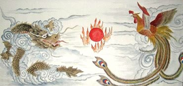 Chinese Dragon Painting,50cm x 100cm,4740005-x
